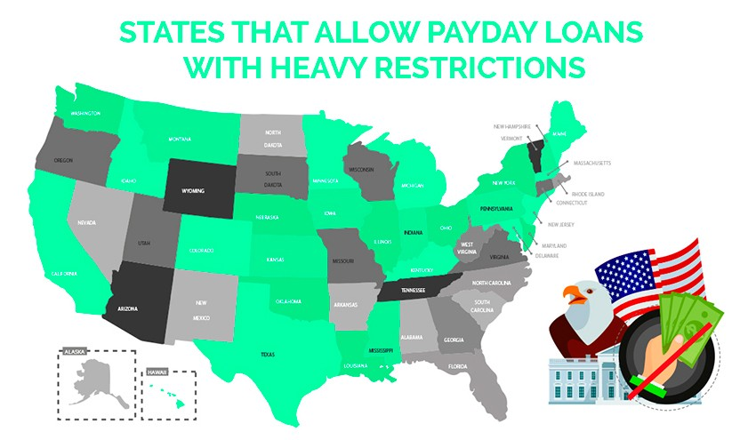 States That Allow Payday Loans With Heavy Restrictions