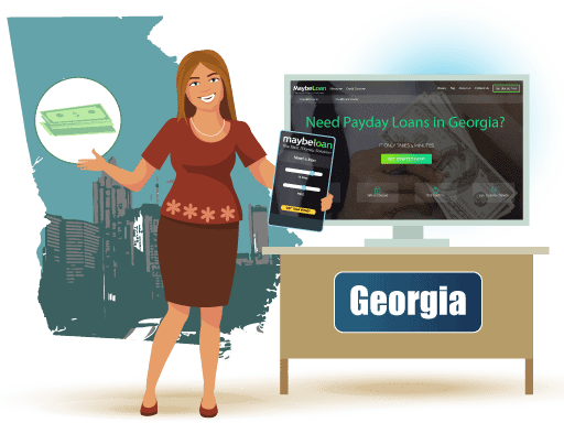 Payday Loans in Georgia Online at MaybeLoan