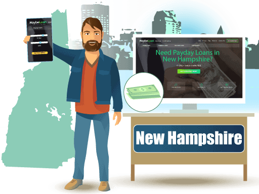 Payday Loans in New Hampshire Online at MaybeLoan