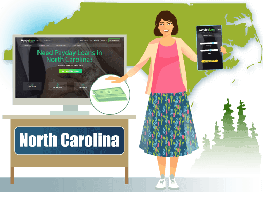 Payday Loans in North Carolina Online at MaybeLoan