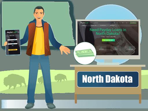 Payday Loans in North Dakota Online at MaybeLoan