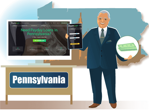 Payday loans In Pennsylvania (PA) online